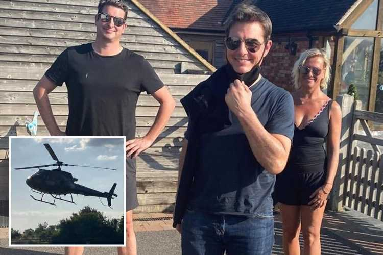 Tom Cruise surprises Warwickshire family by landing a helicopter in their back garden for Mission Impossible 7 filming
