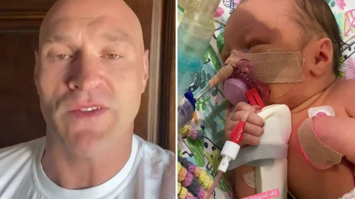 Tyson Fury back training as it 'calms him down' as baby daughter Athena fights for her life in intensive care