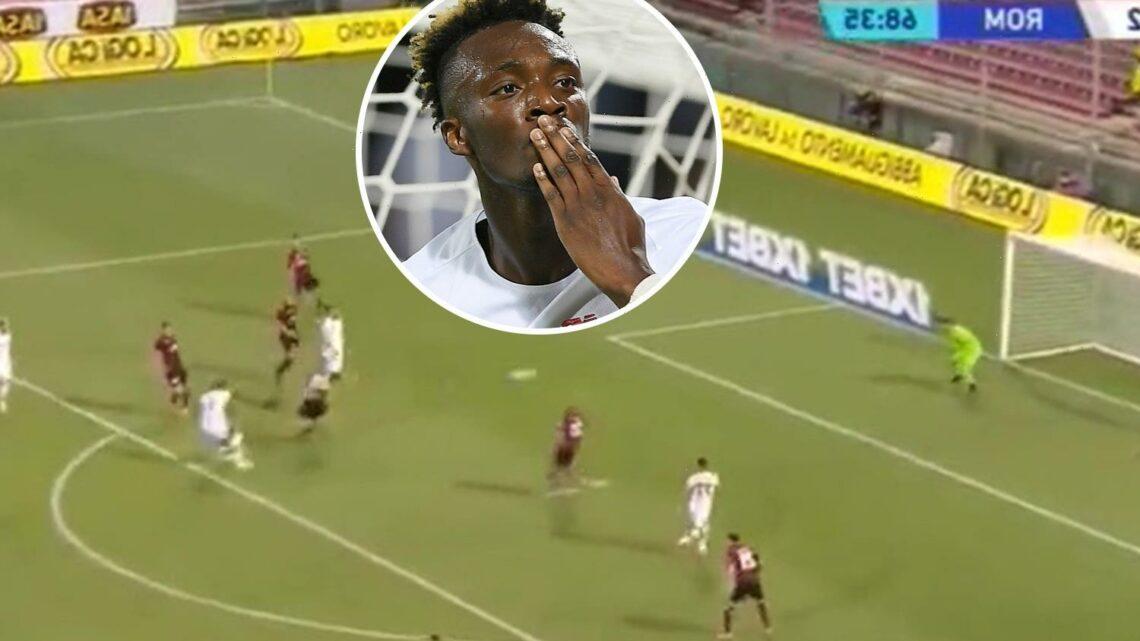 Watch Tammy Abraham score stunning first Roma goal after £34million Chelsea transfer in 4-0 thrashing of Salernitana