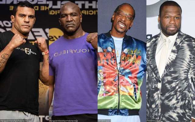 50 Cent Replaces Snoop Dogg as Announcer for Evander Holyfield and Vitor Belfort Match