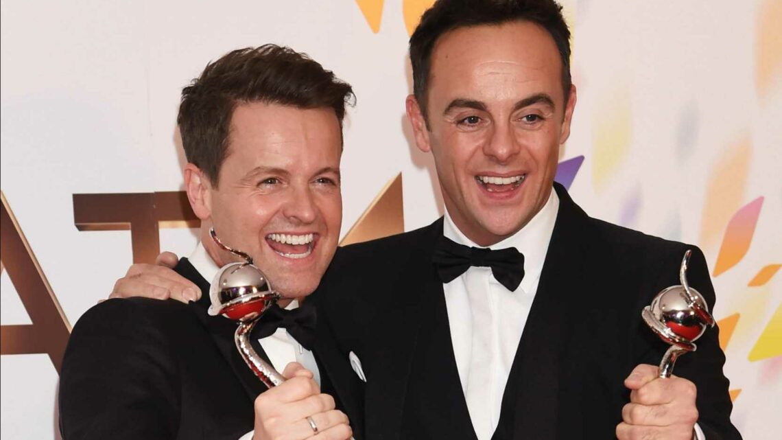 Ant and Dec set for major NTA upset and are 'terrified' they will lose 20th award, says Amanda Holden