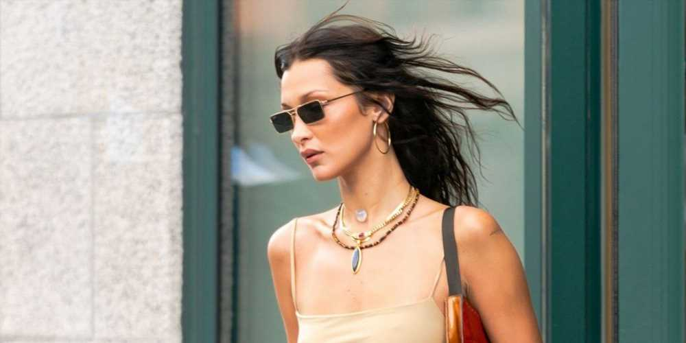 Bella Hadid Paired a Peekaboo Thong With a Purple Pony