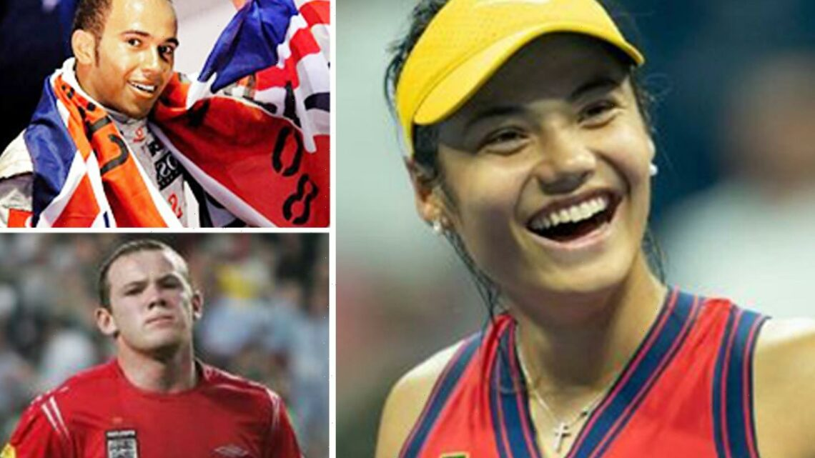Brit teen prodigies who shot to stardom from nowhere like Rooney and Hamilton, after Emma Raducanu's heroics at US Open