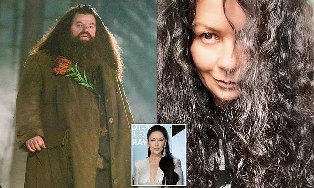 Catherine Zeta-Jones's hair looks like Hagrid the giant's
