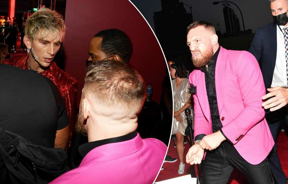 Conor McGregor and Machine Gun Kelly get into fight on VMAs red carpet