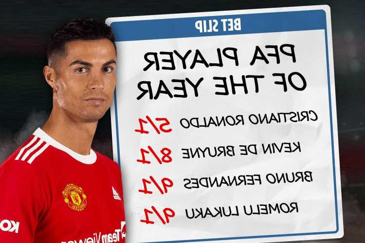 Cristiano Ronaldo is favourite to win PFA Player of the Year award ahead of second Manchester United debut