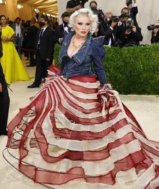 Debbie Harry in Zac Posen at the Met Gala: nailed the theme?