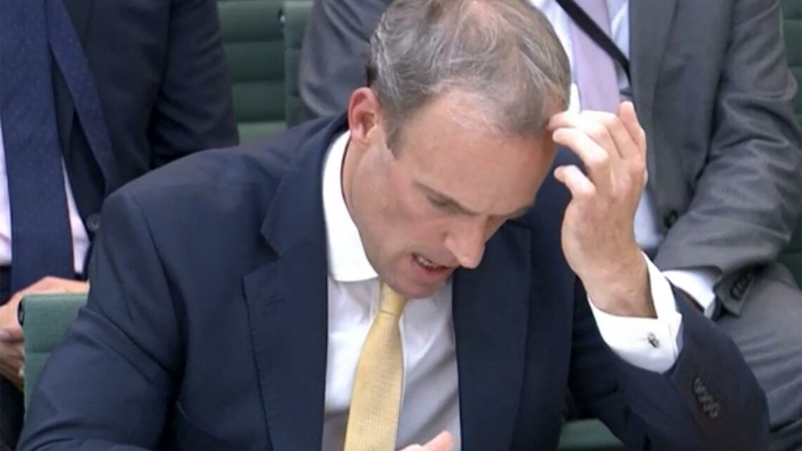 Dominic Raab was warned Afghan could fall to Taliban TWO WEEKS before he went on holiday, leaked doc reveals