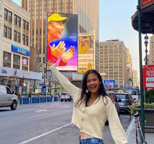 Emma Raducanu stunned after seeing billboard with her face on it in New York after US Open heroics