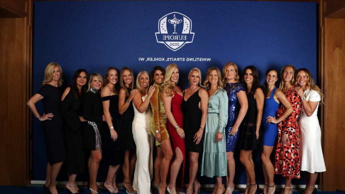 Glam Ryder Cup Wags pose at Team Europe Gala Dinner as they prepare to cheer on golf partners at Whistling Straits