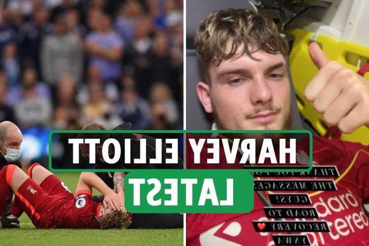 Harvey Elliott injury latest – Liverpool ace in hospital as Klopp confirms ankle dislocation, breaks silence on Insta