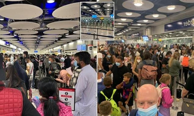 Heathrow arrivals are forced to wait for FOUR hours