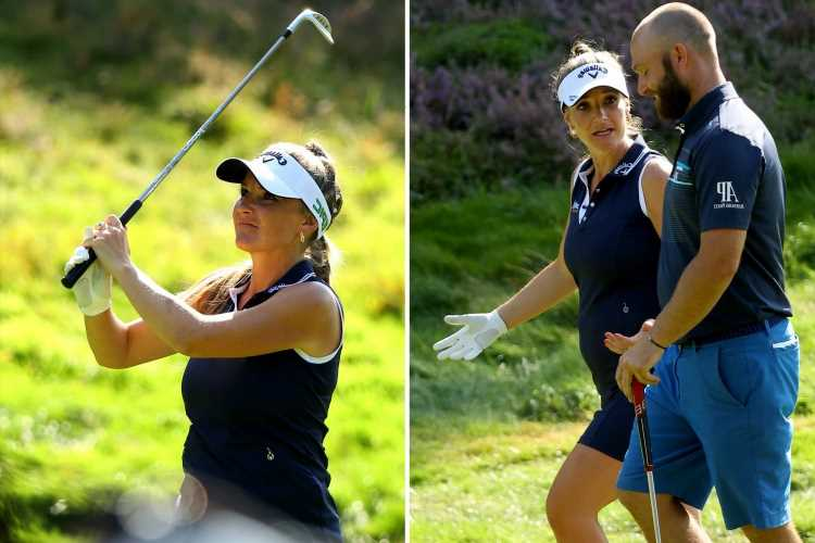 Helen Skelton's pal lets slips she's 'pregnant' with third child during golf tournament