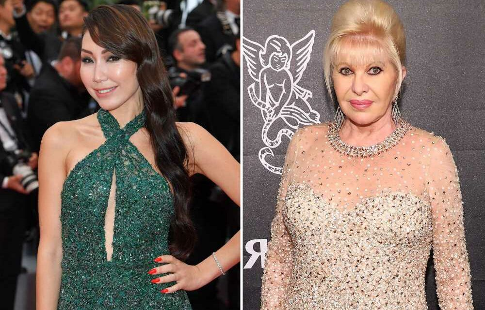 Ivana Trump asks to feel womans breasts at NYFW show