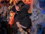 Kourtney Kardashian and Travis Barker make out at haunted Halloween event