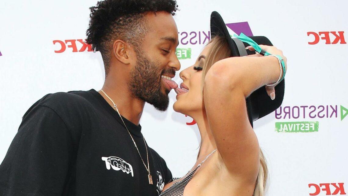Love Island's Faye Winter reveals curves in see-through bra as she kisses boyfriend Teddy Soares
