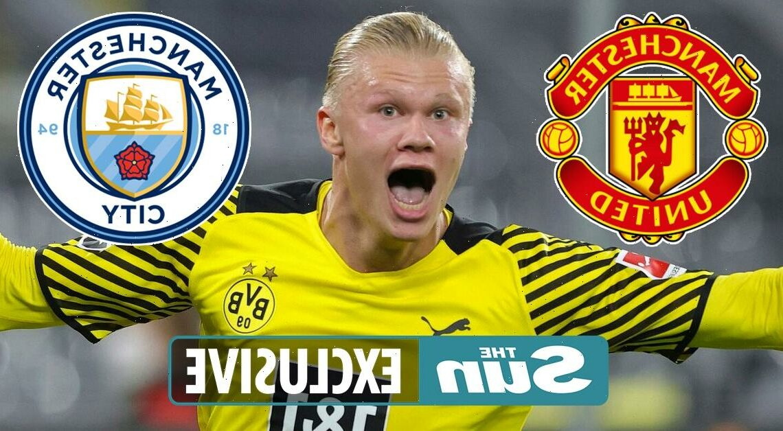 Man Utd and Man City set for another transfer scrap over £64.5m Erling Haaland after summer's Cristiano Ronaldo drama