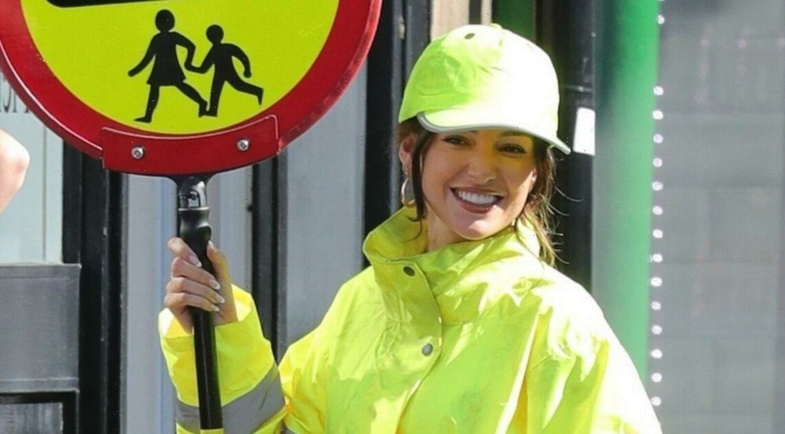Michelle Keegan transforms into a lollipop lady for Brassic series 4 filming
