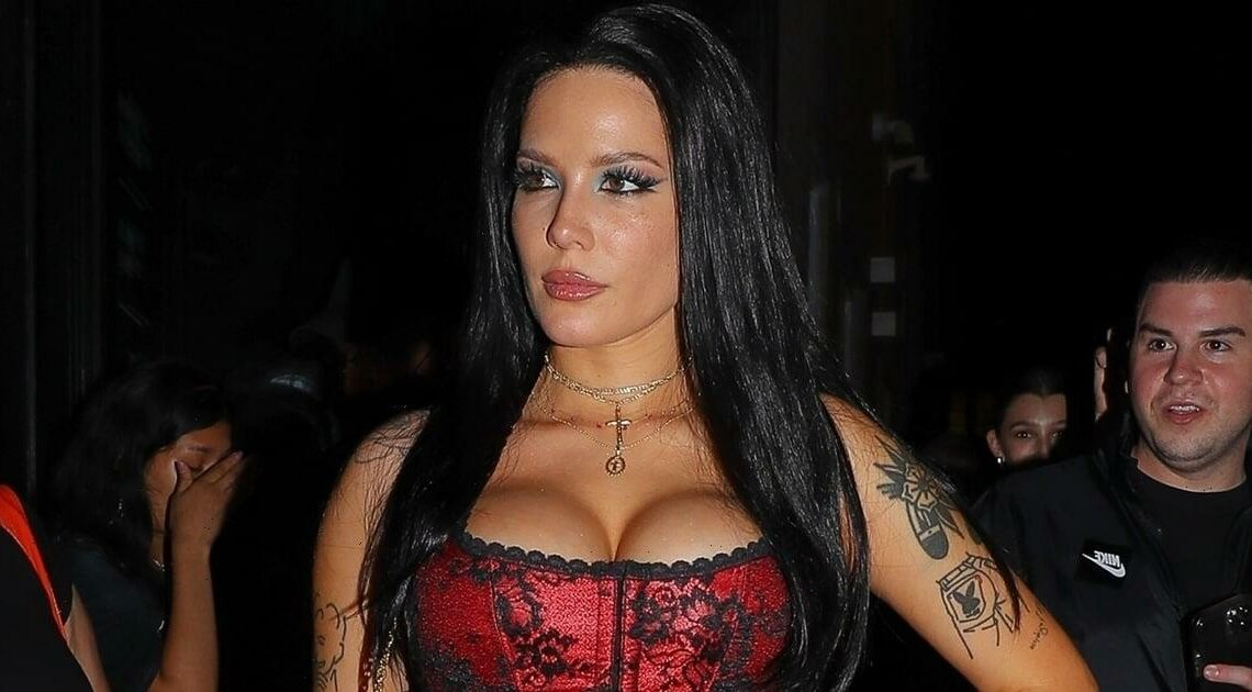 Mortals Beware — Halsey's Crimson Corset at Bella Hadid's NYFW Party Is Hauntingly Vampiric