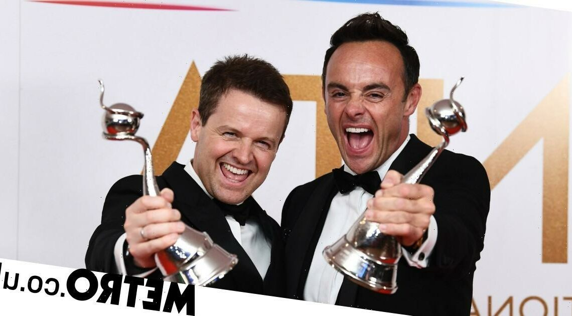 NTAs 2021: Ant McPartlin and Dec Donnelly win TV presenter for 20th year