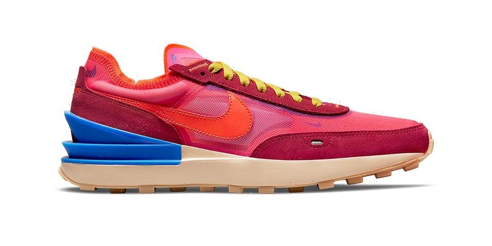 """Nike Waffle One Receives a Vivid """"Hyper Pink/University Red"""" Makeover"""