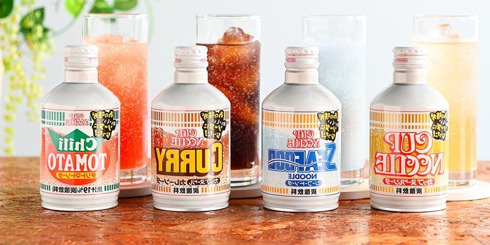 Nissin Stirs Up Four Cup Noodle-Flavored Sodas