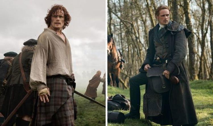Outlander: Jamie Fraser star Sam Heughan 'crying' as he shares behind the scenes shot