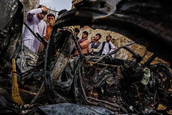 Pentagon DEFENDS US drone strike in Kabul despite claim Hellfire missile killed innocent aid worker and seven kids