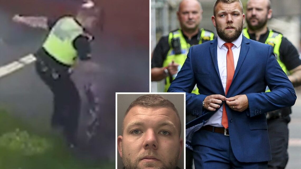 Police officer jailed for assaulting two people after punching and kicking lad, 15, he falsely accused of having drugs