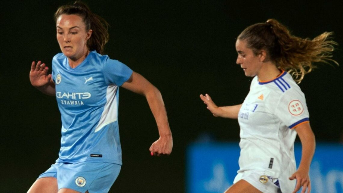 REAL MADRID 1 MAN CITY 1: Taylor hopes 'streetwise' City see off Real after rivals nab draw in Women's Champions League