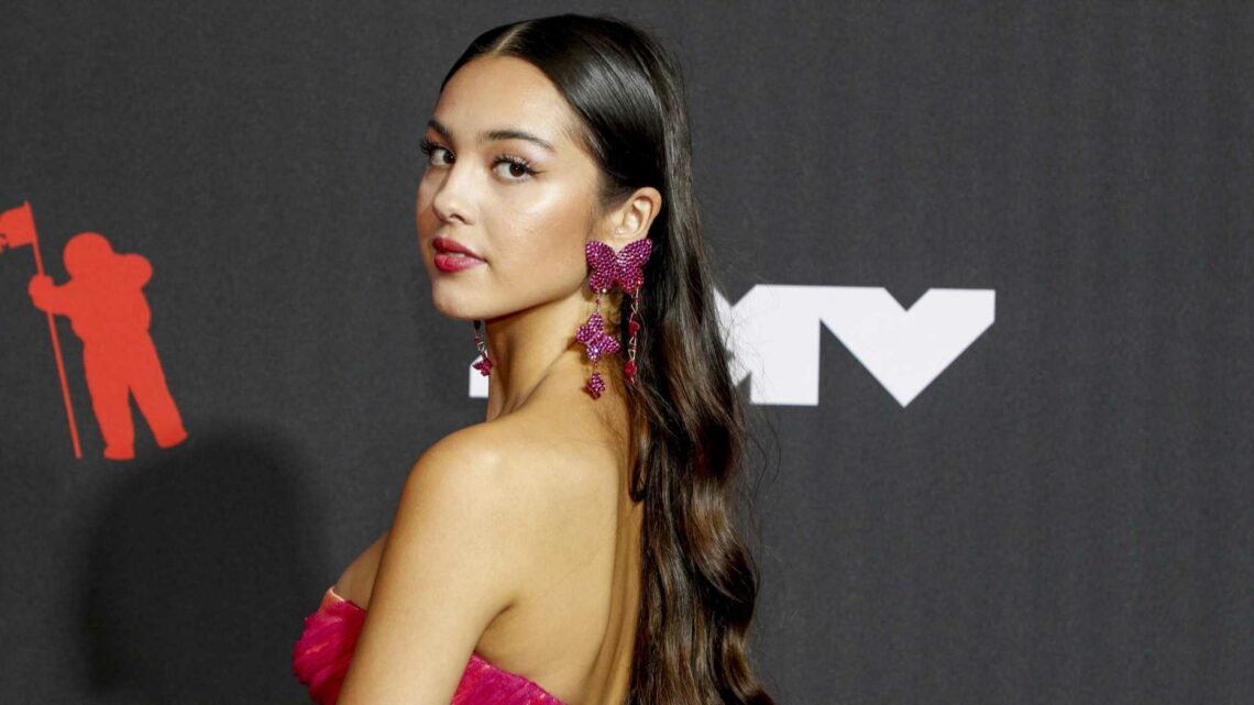 See Every Picture of Olivia Rodrigo's Sunset Red Carpet Gown at Her VMAs Debut