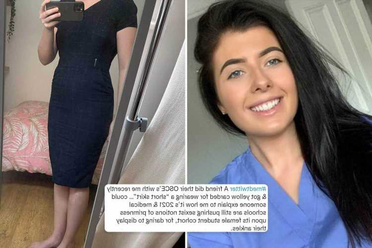 Student shocked after being given warning for wearing 'inappropriate' dress to exam – but it's below her knees