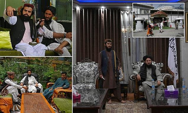Taliban fighters have taken over the glitzy Kabul mansion of ex-VP