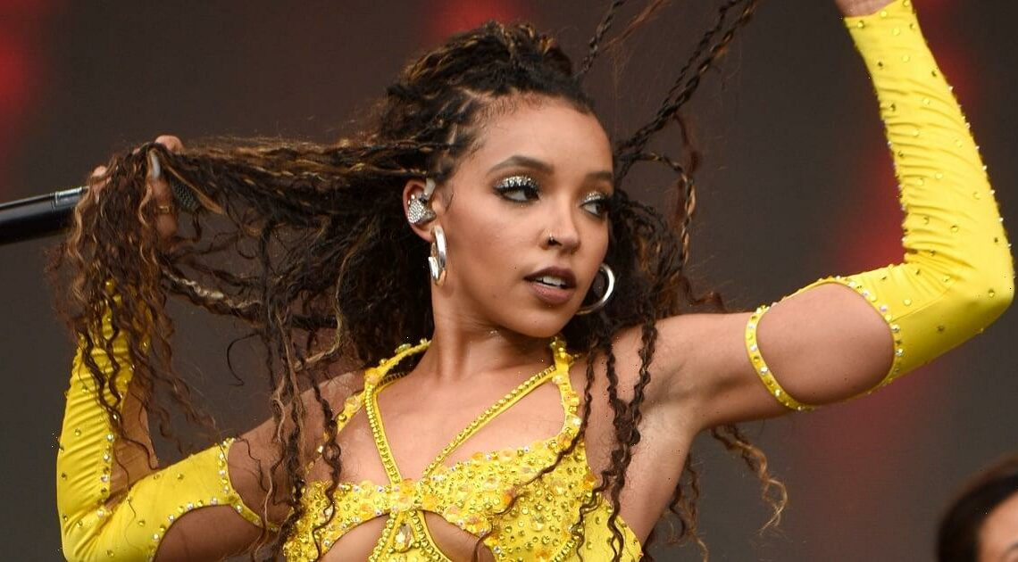 Tinashe Sizzled on Stage at MIA Festival in a Butter-Yellow Leotard Speckled With Rhinestones