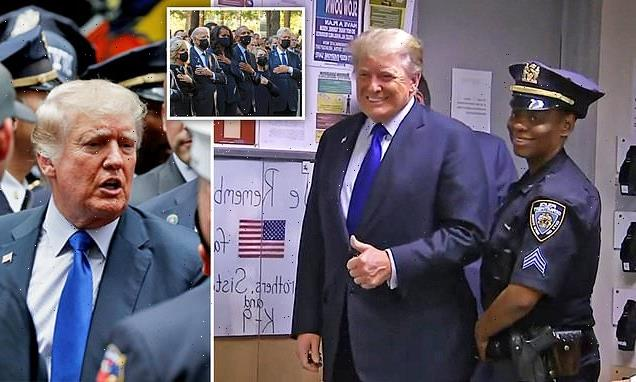 Trump visits cops on 9/11 anniversary: Doesn't visit Ground Zero