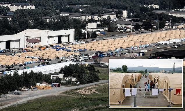 Two-mile RUNWAY at Ramstein Air Base is tent city for Afghan evacuees