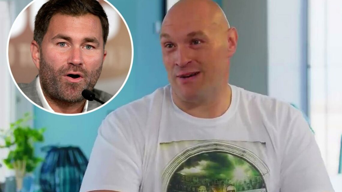 Tyson Fury brands Eddie Hearn 'Southern w*****' and claims promoter tried to sign him in chat with Man Utd icon Neville