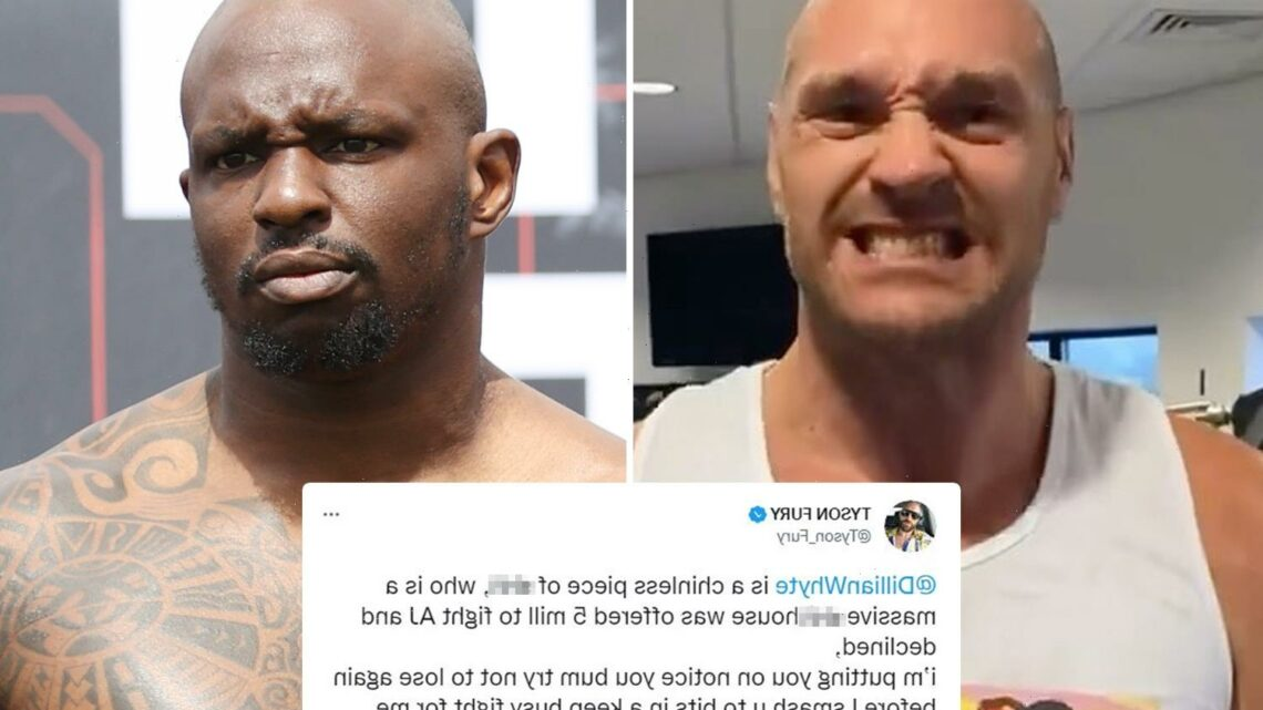 Tyson Fury savages Dillian Whyte as 'chinless piece of s*** and s***house' and threatens to smash Anthony Joshua in rant