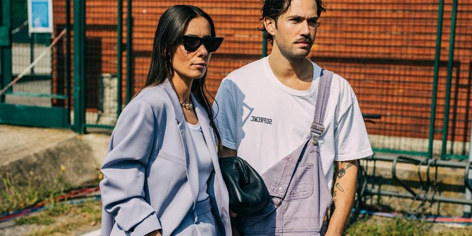 Vivid Prints and Pops of Color Take Over Milan Fashion Week SS22 Street Style