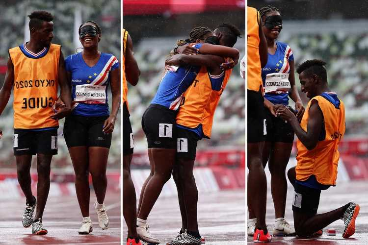 Watch heartwarming moment Paralympic guide proposes to blind athlete on track after race at Tokyo 2020