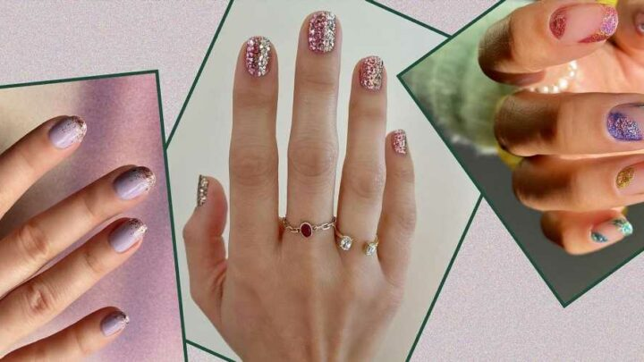 9 Glitter Manicures for When You're in the Mood for Extra Sparkle