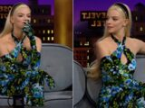 Anya Taylor-Joy Co-Designed Her Groovy Floral Print Catsuit With Richard Quinn