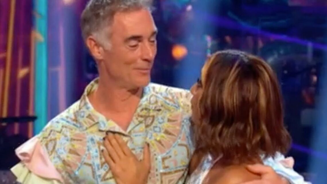 Awkward moment Strictly's Greg Wise reacts to question about being 'friends for life' with Karen Hauer amid feud rumours