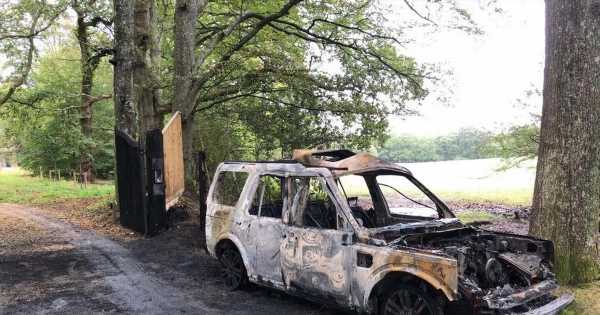 Chris Packham car blast attack as Land Rover set alight by thugs near his home
