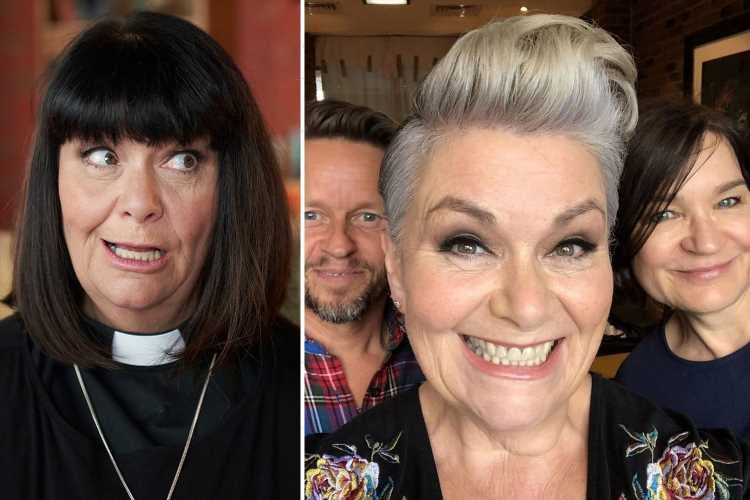 Dawn French dazzles fans with hair transformation as she swaps her signature dark bob for a grey quiff