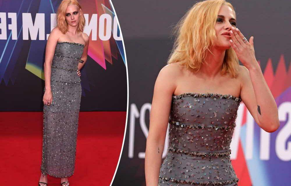 Kristen Stewart sparkles in strapless gown at 'Spencer' premiere