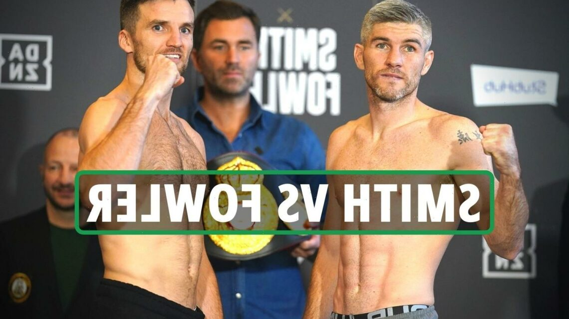 Liam Smith vs Anthony Fowler: UK start time, live stream, TV channel, undercard, ring walk times for TONIGHT's clash