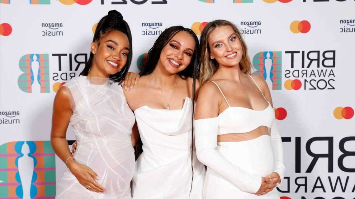 Little Mix's Perrie Edwards enjoys first night out since giving birth as she joins Leigh-Anne for birthday celebrations