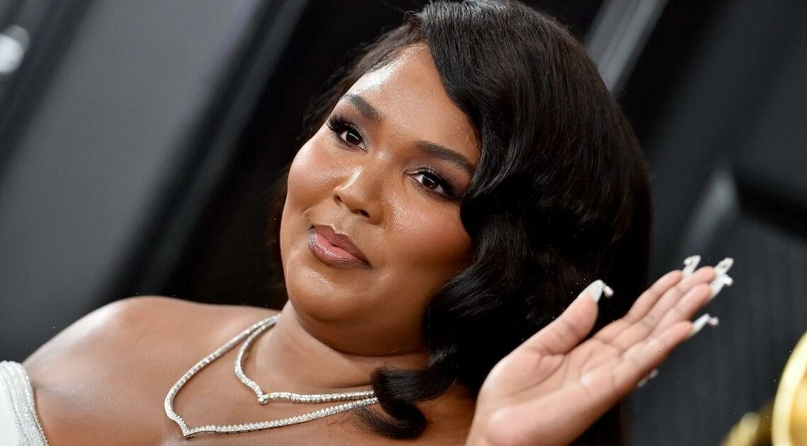 Lizzo's Crystal French Manicure Was Almost Enough to Distract From Her Fishnet Dress — Almost