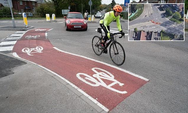 Locals slam council after 10ft bike route added to roundabout